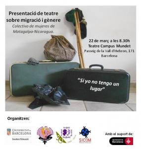 """Barcelona: Teatre participatiu i social """"Si yo tengo un lugar"""" @ Teatre Campus Mundet"""