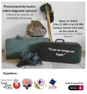 """Barcelona: Teatre participatiu i social """"Si yo tengo un lugar"""" @ Campus Docent Sant Joan de Déu (Aula 4)"""