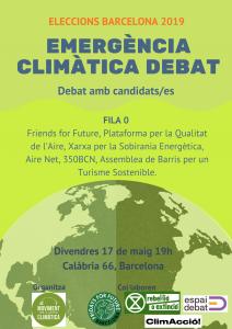 Barcelona: Eleccions municipals. L'emergència climàtica a debat @ Calàbria 66 (L1 Rocafort, H12)
