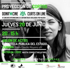 Zamora: Proyección de cortosDona´m Cine @ Salón de Actos de la Biblioteca Pública del Estado