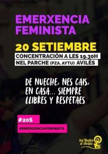 Avilés: Concentración emerxencia feminista @ nel Parche