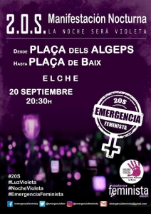 Elx: Manifestación Emergencia Feminista @ Plaça dels Algeps - Plaça de Baix