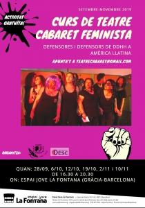 Barcelona: Teatre Cabaret Feminista: defensors/es de DDHH a Amèrica Llatina @ Espai Jove la Fontana
