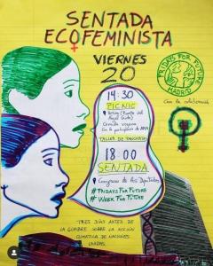 Madrid: Sentada ecofeminista @ Congreso de lxs Diputadxs