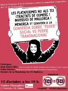 """Palma de Mallorca: Conversa sobre """"Poder social vs. Poder transnacional"""""""