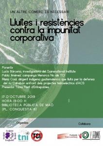 Menorca: Lluites i resistències contra la impunitat corporativa @ Biblioteca Pública de Maó