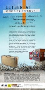 """Barcelona: Exposició """"Llibertat Significa Moviment"""" Jornades Conviure en la Diversitat @ Biblioteca Les Roquetes"""