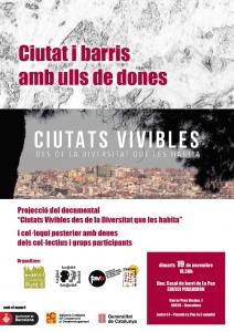 Barcelona:  Projecció del Documental Ciutats Vivibles des de la Diversitat que les habita i col·loqui @ Casal de Barri La Pau-Piramidón