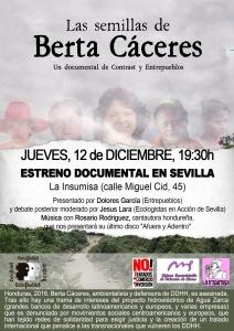 """Sevilla: Proyección """"Las Semillas de Berta"""" @ La Insumisa"""