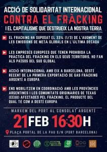 Barcelona: Acció internacional contra el fràcking @ Plaça Portal de la Pau s/n