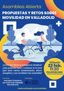 Valladolid: Asamblea Ciudadana por la Emergencia Climática. Propuestas y Retos sobre Movilidad @ Plaza Rafael Cano