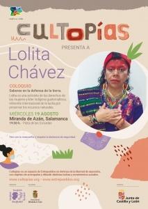 """Miranda de Azán (Salamanca) Cultopías presenta """"Saberes en defensa de la tierra"""" con Lolita Chávez @ Pista de las Escuelas"""