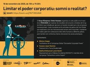 Acto virtual: Limitar el poder corporativo: ¿sueño o realidad?