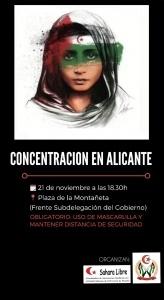 Alicante: Concentración Sahara libre @ Plaza de la Muntanyeta
