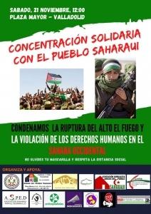 Valladolid: Concentración solidaria con el pueblo saharaui @ Plaza Mayor