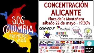 Alicante: SOS Colombia @ Plaza de la Muntanyeta