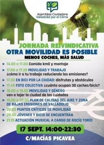 """Valladolid. Jornada reivindicativa """"Otra movilidad es posible"""""""
