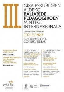 III. Seminario Internacional de Recursos Pedagógicos en Derechos Humanos. @ Kursaal